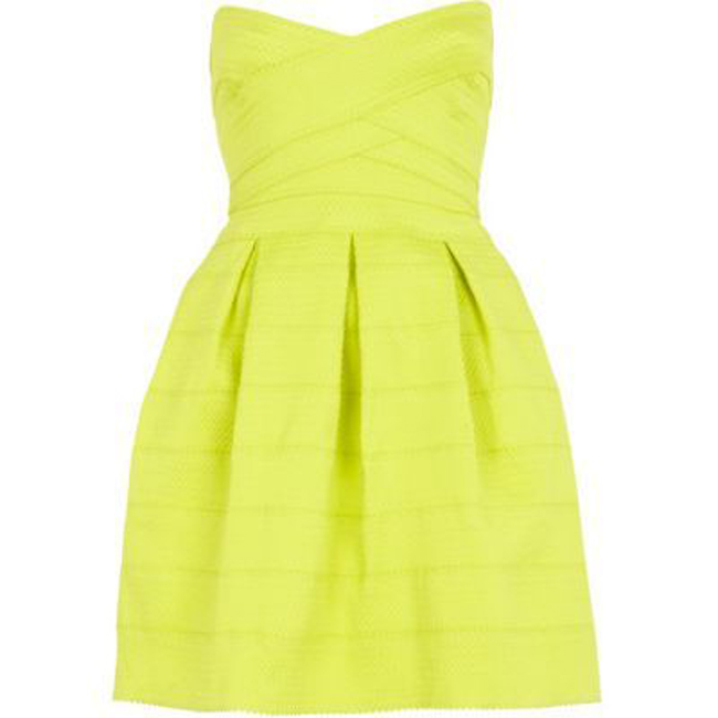 Lime neon dress // freshlyhatched.ca