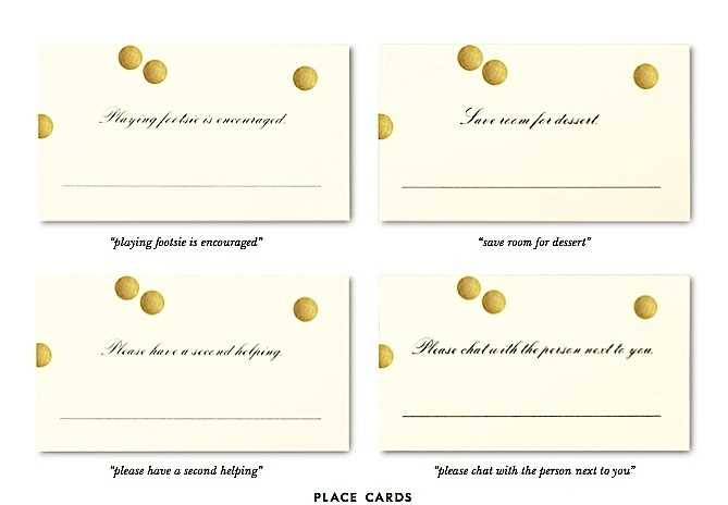 kate spade place cards // freshlyhatched.ca