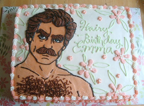 tom selleck cake // freshlyhatched.ca