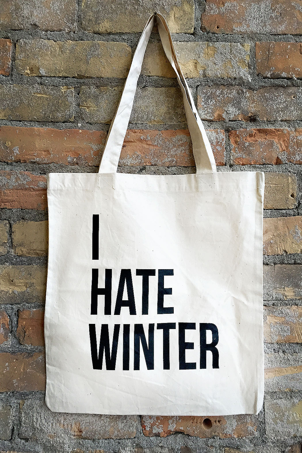 i hate winter bag